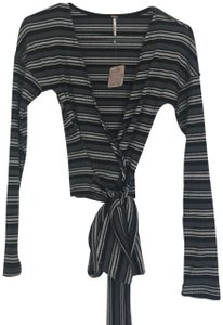 Free People Wrap Stripes Fall Long Sleeve Sweater