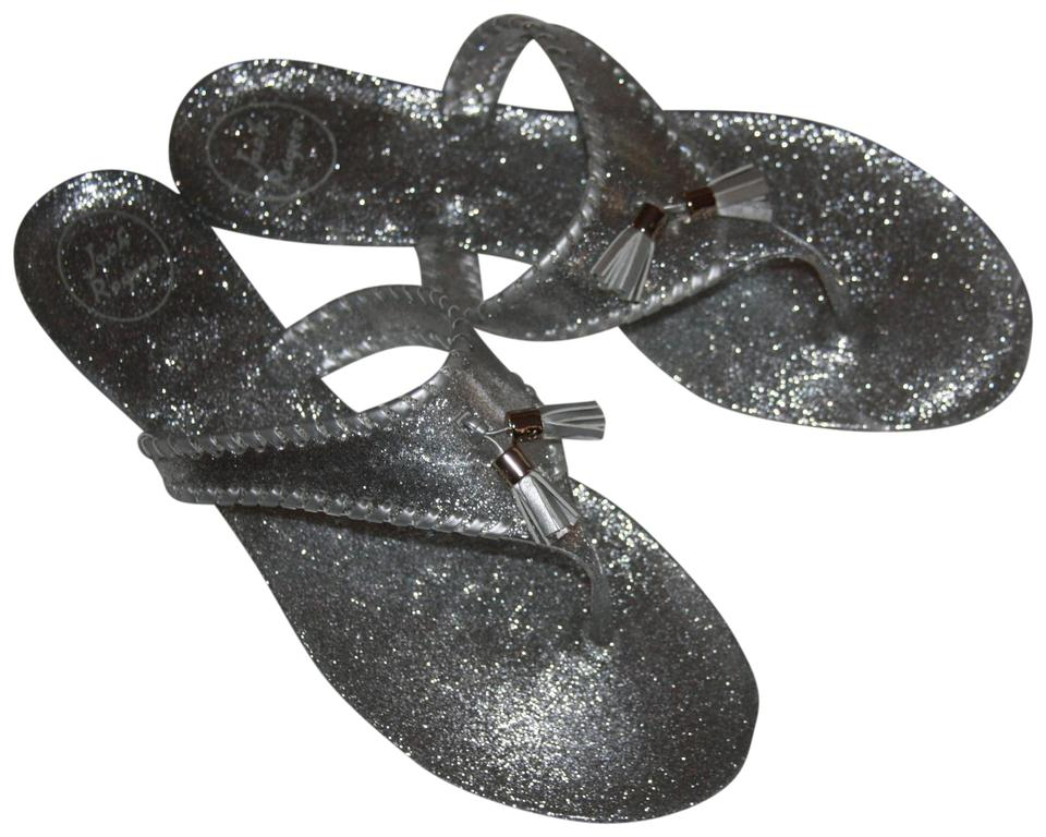 25a5ecb694ca Jack Rogers Silver Sparkle Alana Jelly Women s M Sandals Size US 11 ...