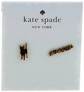 Kate Spade Kate Spade New Black Cat and Meow Designed Earrings