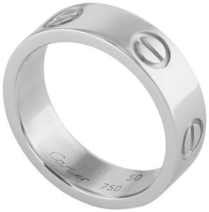 Cartier Cartier 18K White Gold Love Ring Size: 5.25