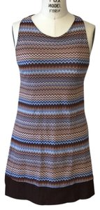 Sweet Pea by Stacy Frati short dress Brown and Blue on Tradesy