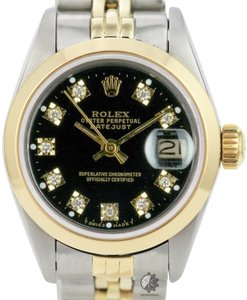 Rolex Rolex Lady Datejust Two-tone 26mm Diamond Dial Smooth Bezel Watch