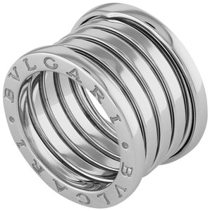 BVLGARI Bvlgari 18K White Gold B.Zero1 5 Band Ring Size: 6.25