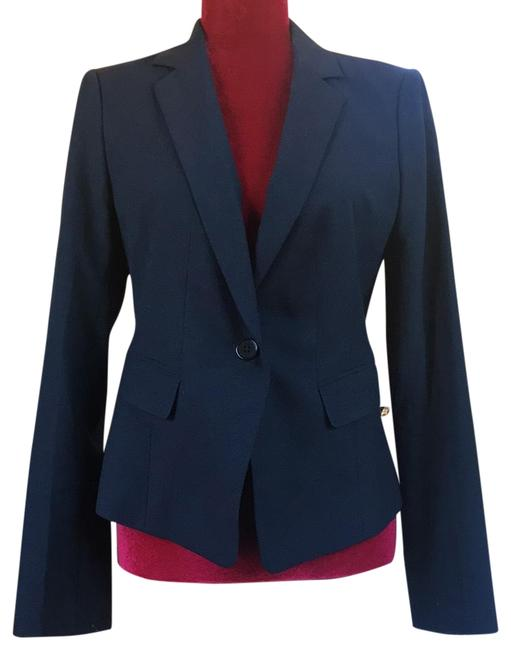 Item - Blue Notched Lapel Blazer Size 6 (S)