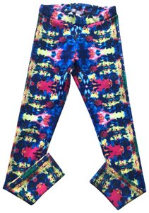 Romeo & Juliet Couture Pink and Blue Leggings