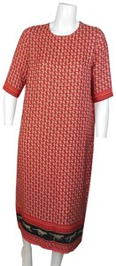 RED Maxi Dress by Roseanna Floral Animal Print Silk
