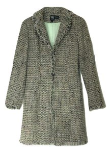 Worth Tweed Fringe Duster Trench Coat
