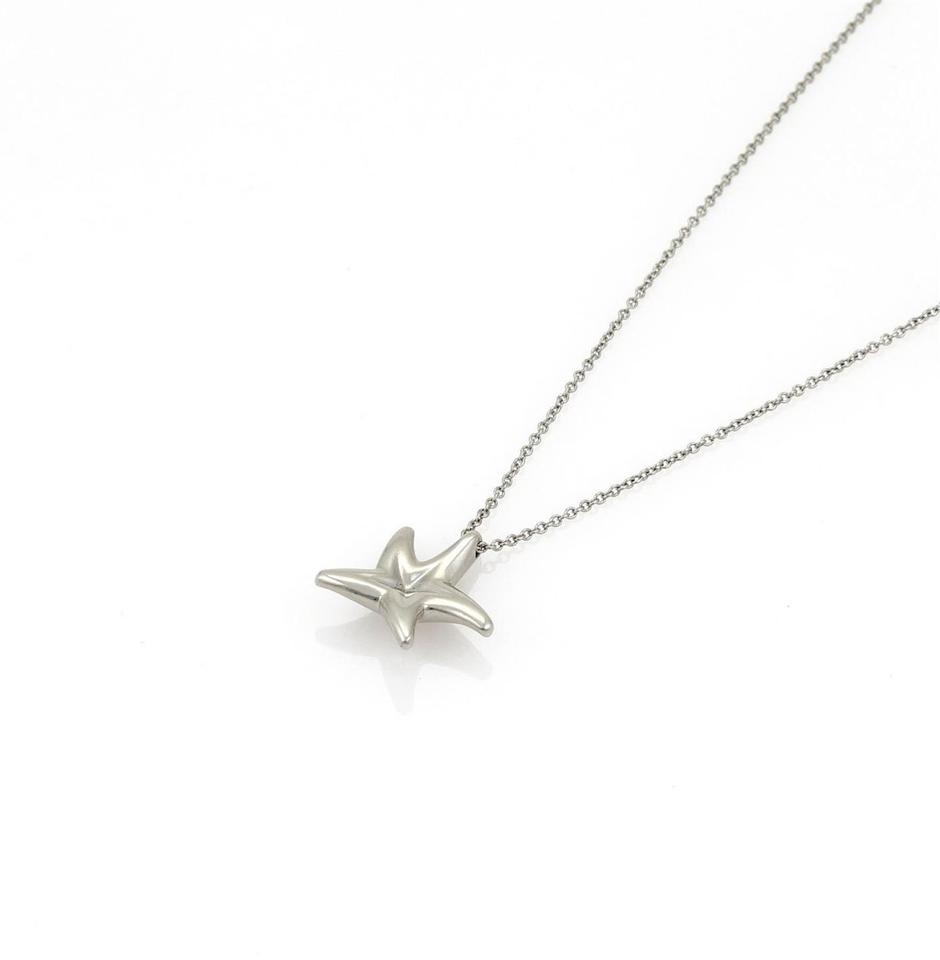 562789a9de43f Tiffany & Co. 22354_ Elsa Peretti Diamond Starfish Platinum Pendant Necklace