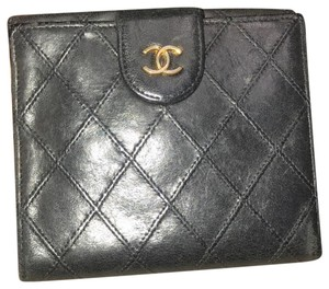 Chanel Bicolore Lambskin Coco Leather Wallet
