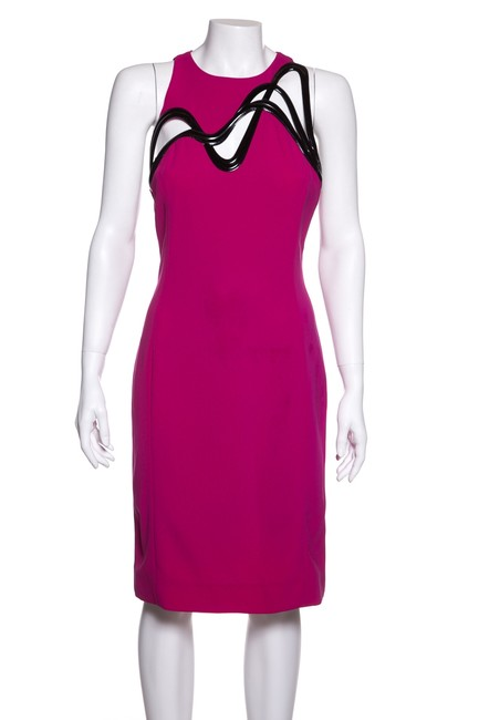 Item - Fuchsia Patent Leather Cut-out Detail Short Night Out Dress Size 4 (S)