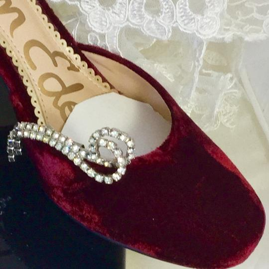 Rhinestoned Silver Sparkling Vintage Dangling Shoe Clips Brooch/Pin Image 8