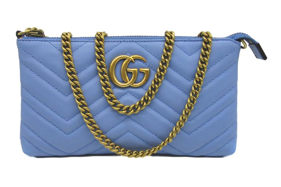 75bac26eff3ad3 Gucci Marmont Chain Wallet Matelasse Quilted Cross Body Bag Image 0 ...