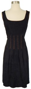 Peruvian Connection short dress Black Lace-up Corset Suede Leather on Tradesy