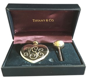 Tiffany & Co. Marked down - Collector's item Tiffany Sterling Silver Heart Shaped Perfume bottle