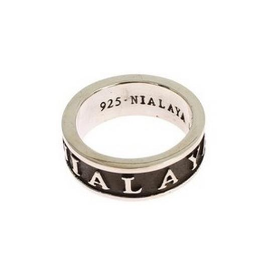 Silver / Black D19129-4 Sterling 925 Ring (Eu 60 / Us 10) Men's Jewelry/Accessory Image 2