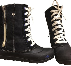 The North Face Black & white / Cobalt blue Boots