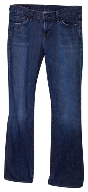 Item - Blue Distressed Kelly #001 Stretch Low Boot Cut Jeans Size 8 (M, 29, 30)