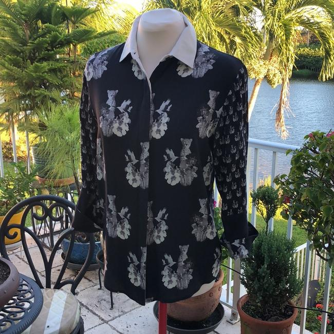 St. Studio Button Down Shirt Navy / Ivory Image 2
