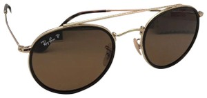 Ray-Ban Polarized RAY-BAN Sunglasses RB 3647-N 001/57 51-22 Brown Gold w/Brown