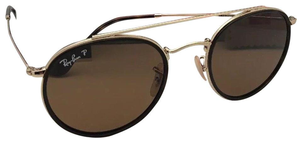 2de2e3b4c188d Ray-Ban Polarized Rb 3647-n 001 57 51-22 Brown   Gold W  Brown ...