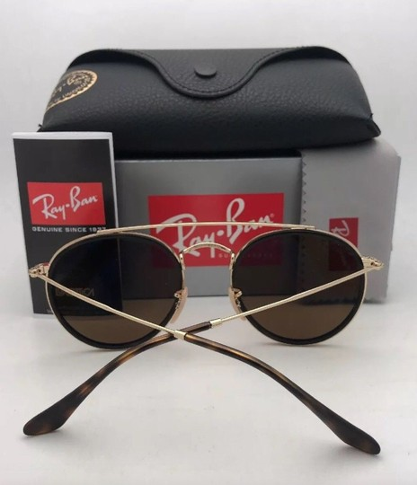 Ray-Ban Polarized RAY-BAN Sunglasses RB 3647-N 001/57 51-22 Brown Gold w/Brown Image 1