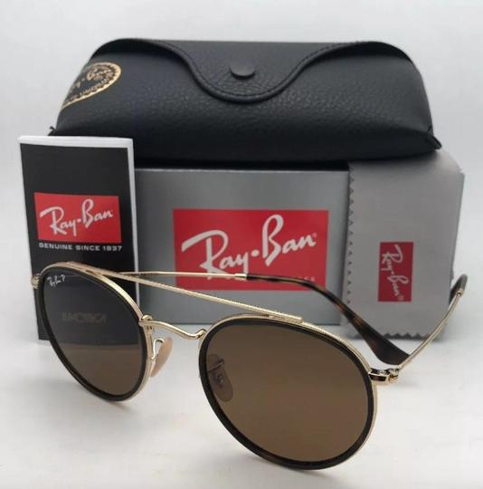 Ray-Ban Polarized RAY-BAN Sunglasses RB 3647-N 001/57 51-22 Brown Gold w/Brown Image 10