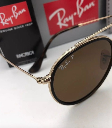 Ray-Ban Polarized RAY-BAN Sunglasses RB 3647-N 001/57 51-22 Brown Gold w/Brown Image 2