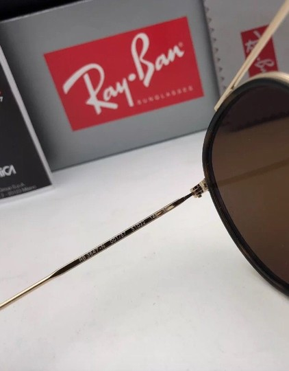 Ray-Ban Polarized RAY-BAN Sunglasses RB 3647-N 001/57 51-22 Brown Gold w/Brown Image 3