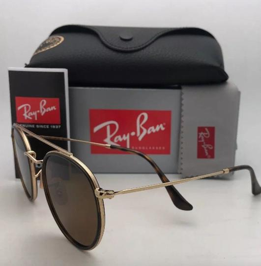Ray-Ban Polarized RAY-BAN Sunglasses RB 3647-N 001/57 51-22 Brown Gold w/Brown Image 4