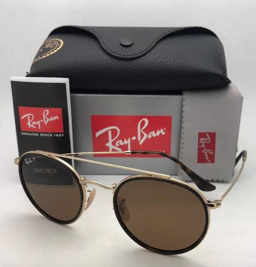 Ray-Ban Polarized RAY-BAN Sunglasses RB 3647-N 001/57 51-22 Brown Gold w/Brown Image 6
