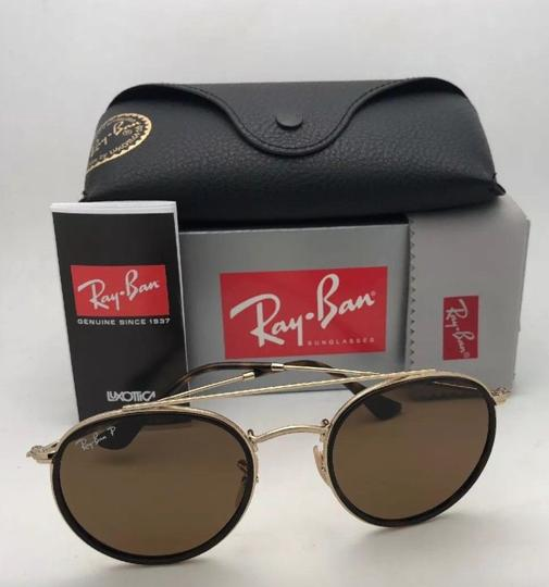 Ray-Ban Polarized RAY-BAN Sunglasses RB 3647-N 001/57 51-22 Brown Gold w/Brown Image 7