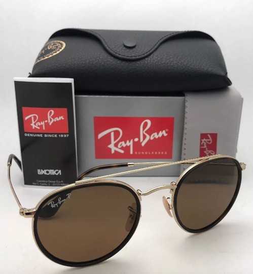 Ray-Ban Polarized RAY-BAN Sunglasses RB 3647-N 001/57 51-22 Brown Gold w/Brown Image 8