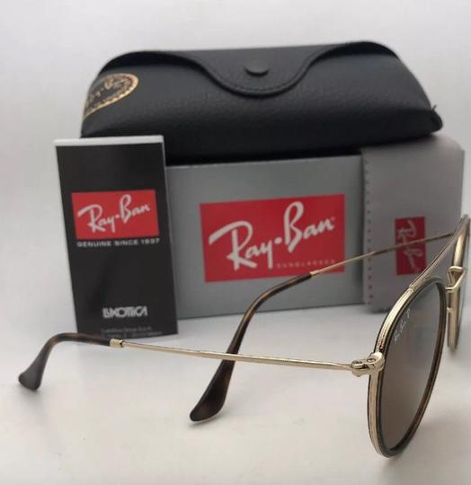 Ray-Ban Polarized RAY-BAN Sunglasses RB 3647-N 001/57 51-22 Brown Gold w/Brown Image 9
