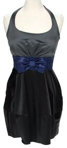 Studio Y Halter Colorblock Bow Detail Belted Party Dress