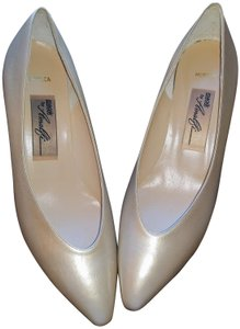 Amalfi Italy Leather Upper Leather Sole Champagne Pumps
