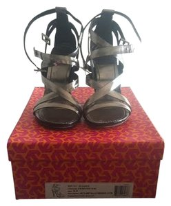Tory Burch Strappy pewter Sandals
