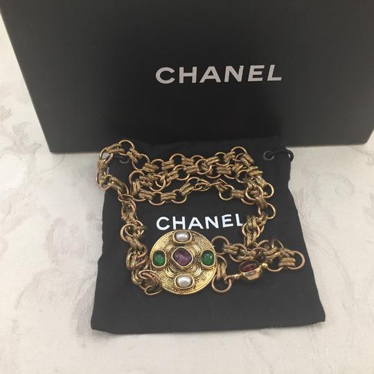 Chanel Chanel Medallion Multicolor Stone Belt Image 2