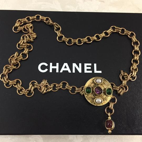Chanel Chanel Medallion Multicolor Stone Belt Image 3