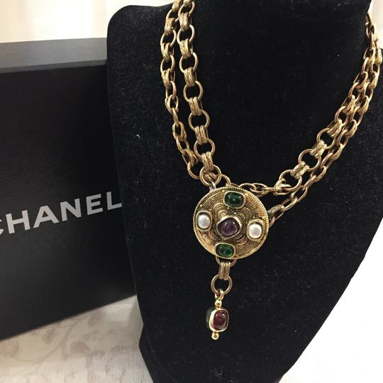 Chanel Chanel Medallion Multicolor Stone Belt Image 5