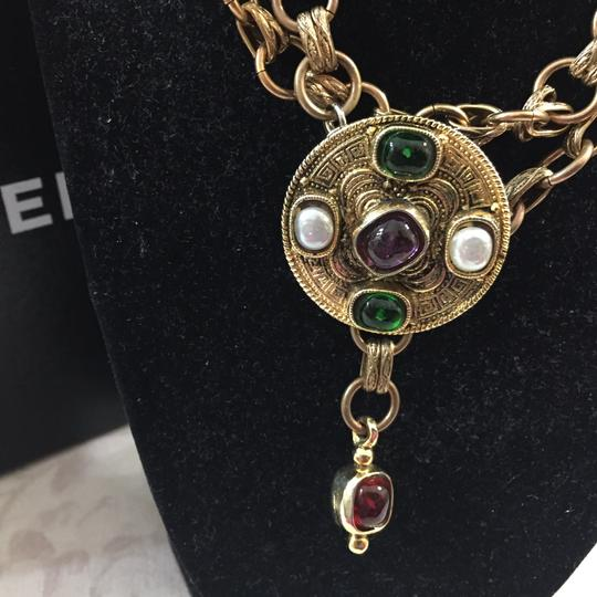 Chanel Chanel Medallion Multicolor Stone Belt Image 6