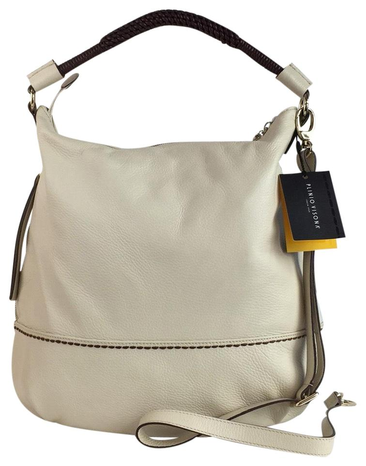 Plinio Visona New Made In Italy Cream Genuine Leather Hobo Bag - Tradesy d34ccc92882