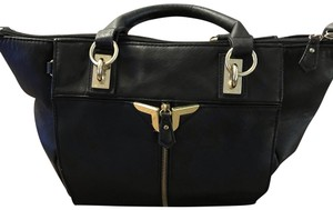 Danielle Nicole Satchel in black with gold