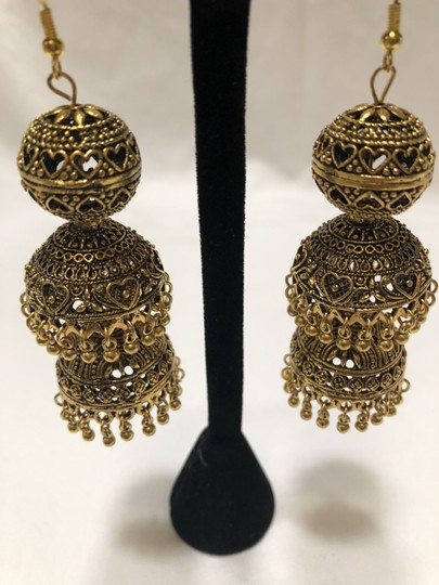 Knowlesandco Bollywood brass earrings Image 1