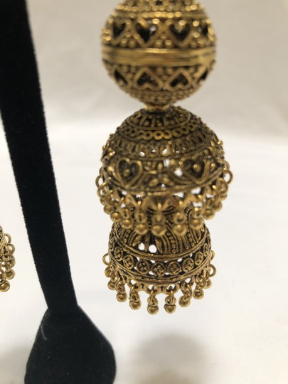 Knowlesandco Bollywood brass earrings Image 2