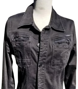 G-Star RAW Black brushed cotton denim Womens Jean Jacket