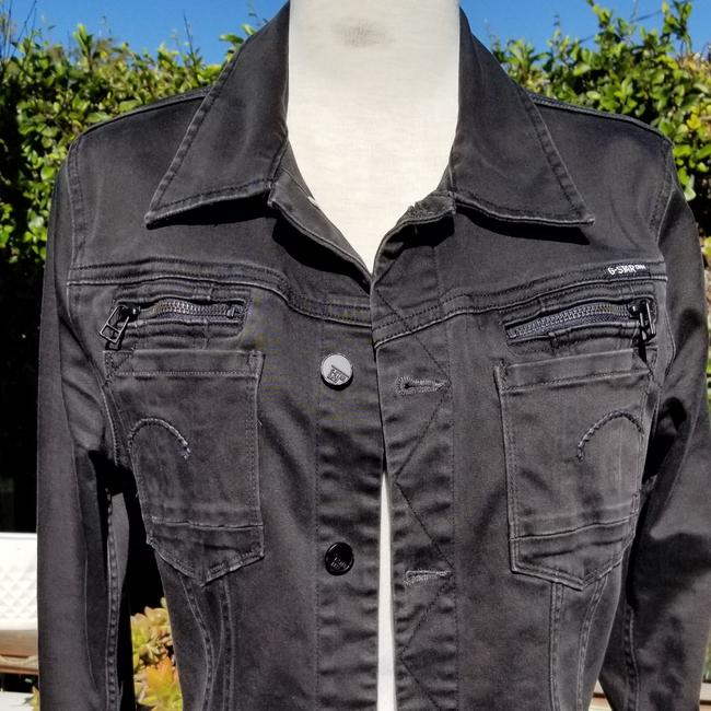 G-Star RAW Black brushed cotton denim Womens Jean Jacket Image 3