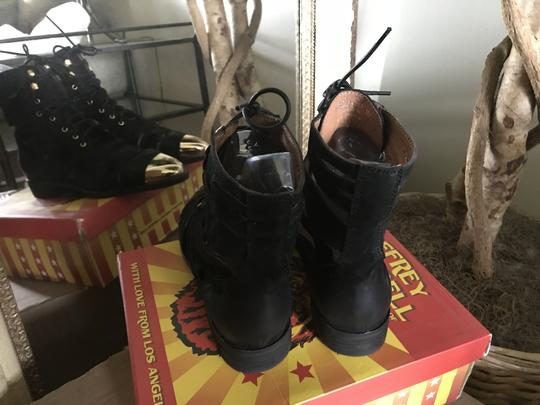 Jeffrey Campbell Free People Leather Toe Ankle Black/Gold Boots Image 1