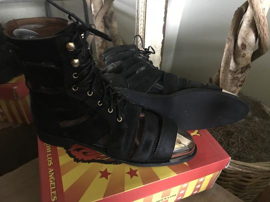 Jeffrey Campbell Free People Leather Toe Ankle Black/Gold Boots Image 4