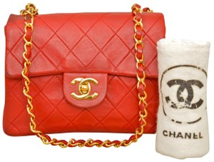 Chanel Quilted Lambskin Single Flap Cross Body Bag