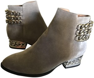 Jeffrey Campbell Ankle Chains Grey Suede Boots